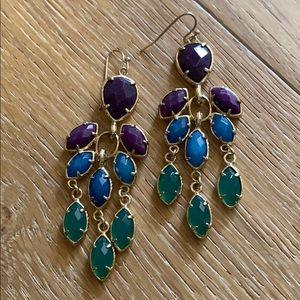 Kendra Scott statement earrings.